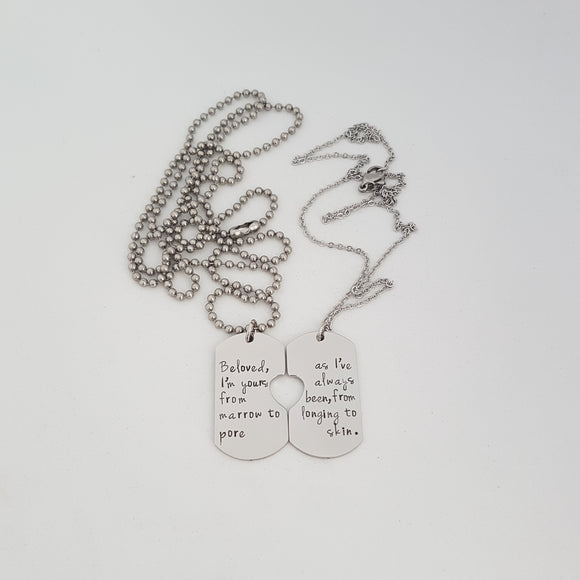 Dog Tag Necklace Set