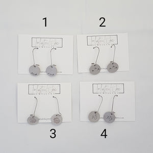 Disc Earrings (Sample Item)
