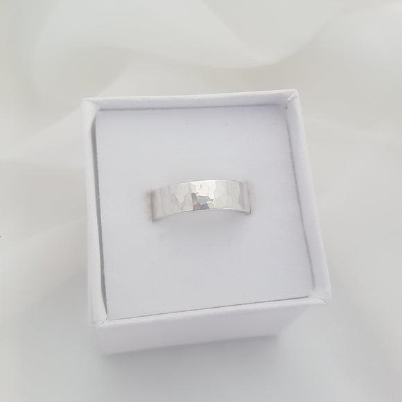 Silver Wide Band Ring
