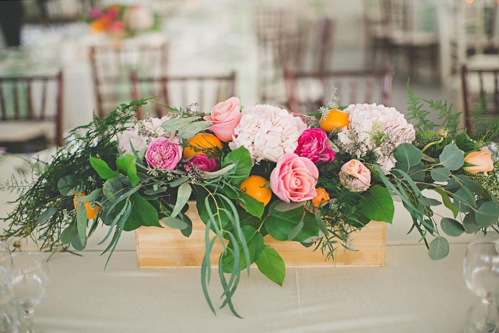 Event floral centrepiece design by Tickled Floral in Sherwood Park, Alberta Canada.