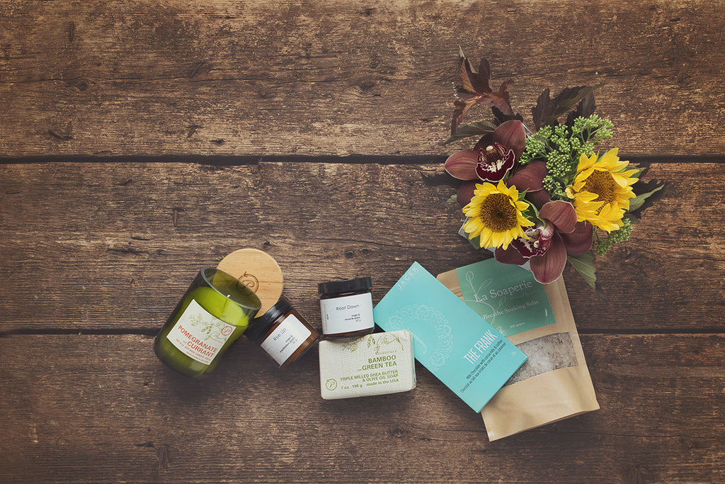 Candles, chocolates, bath salts, body cream, soap and flowers for easy gift giving ideas from Edmonton and Sherwood Park and St.Albert flower shop