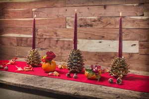Pine Cone Candle Holders