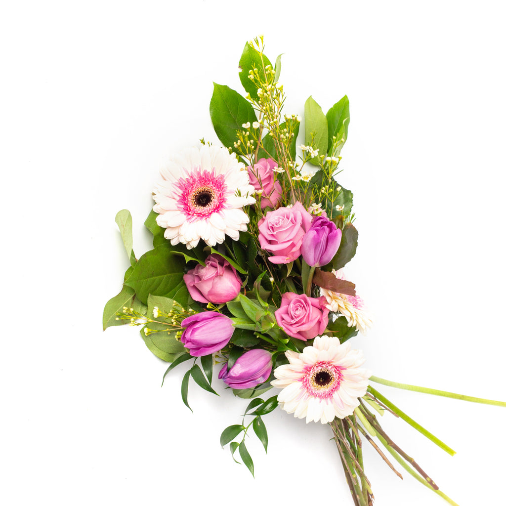 Bundle of seasonal fresh cut flowers, designed by Tickled Floral in Sherwood Park, delivery to Edmonton, Beaumont, St.Albert
