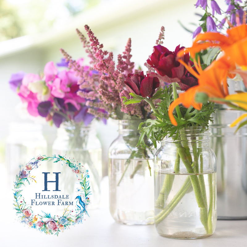Mason Jar Flower Arranging Workshop at Hillsdale Flower Farm