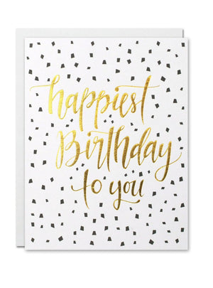 Justine Ma Designs Card that reads Happiest Birthday to You