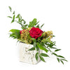 A romantic Floral Arrangement with Roses and greens by Tickled Floral in Sherwood Park, Alberta