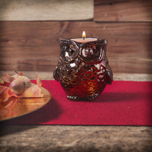 Owl Tealight Candle Holders