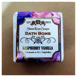 Bath Bomb Square - Raspberry Vanilla