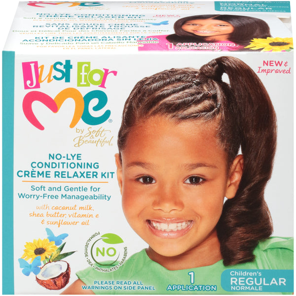 Just For Me No-Lye Conditioning Relaxer Kit ~ Regular