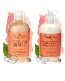 SheaMoisture Coconut & Hibiscus Shampoo & Conditioner Bundle