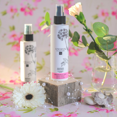 Unique Beauty hajusteeton hiuslakka - Fragrance free hair spray - Vegaaninen, 99% luonnollinen