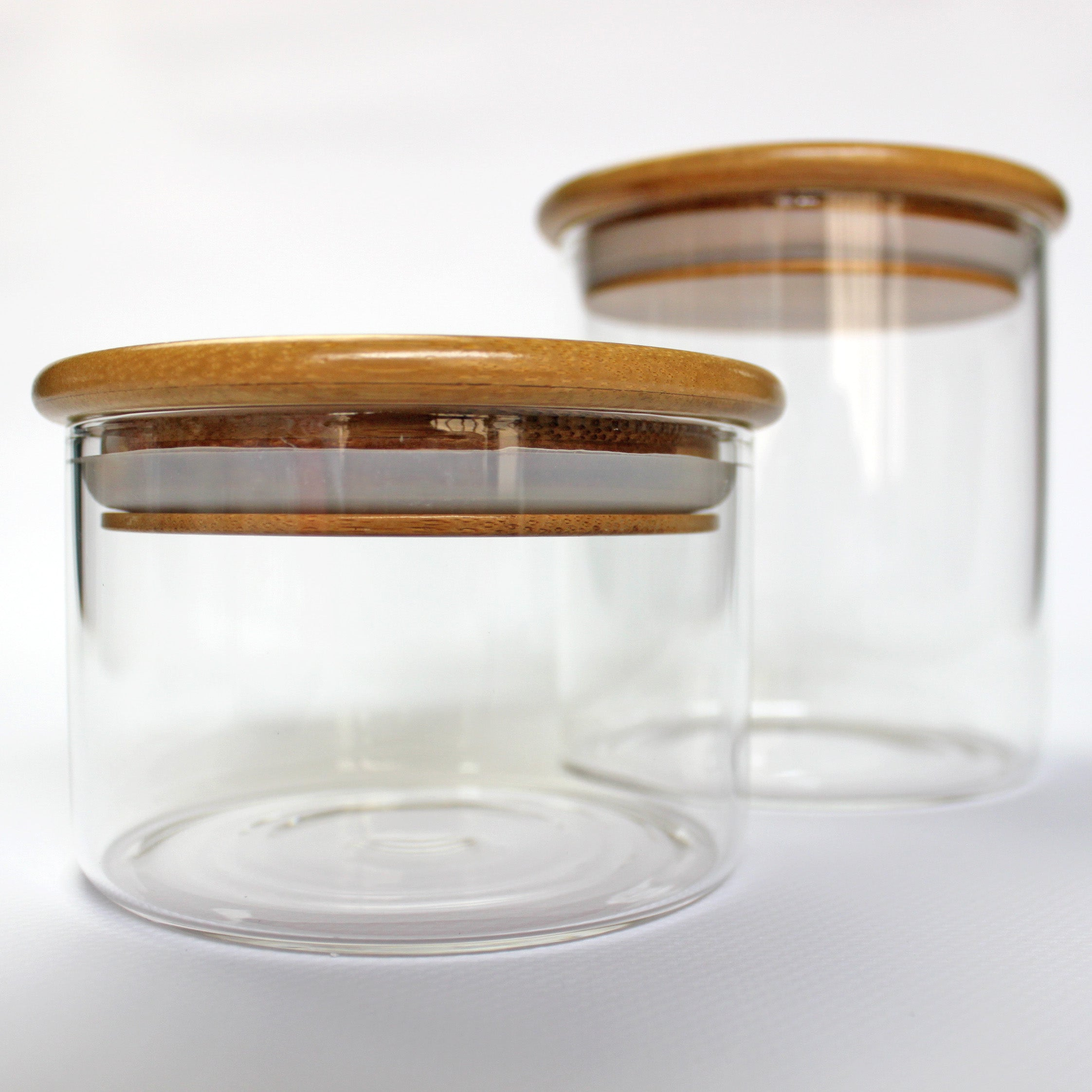 BOROSILICATE GLASS CANISTERS (SMALL / LARGE)