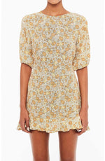 Faithfull Jeanette Dress - Peach Floral