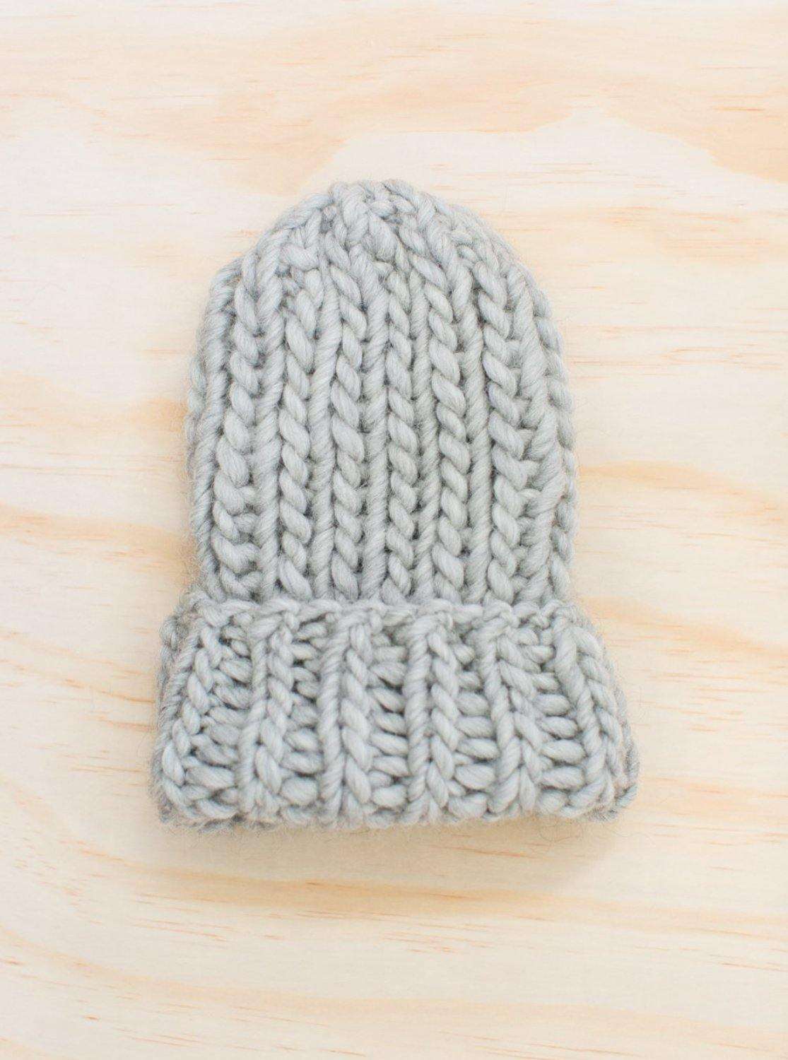 Hendrik Lou Rib Toque - Light Grey