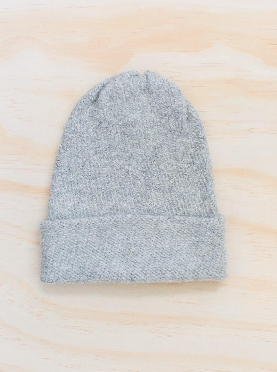 Hendrik Lou Washed Alpaca Beanie - Light Grey