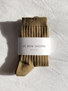 Le Bon Shoppe Her Socks - Pesto (mc)