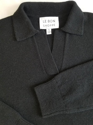 Le Bon Shoppe Nanette Sweater Top - Ebony