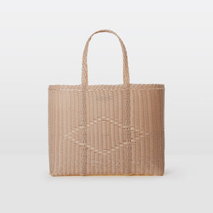 Palorosa Large Handwoven Basket Tote - Powder