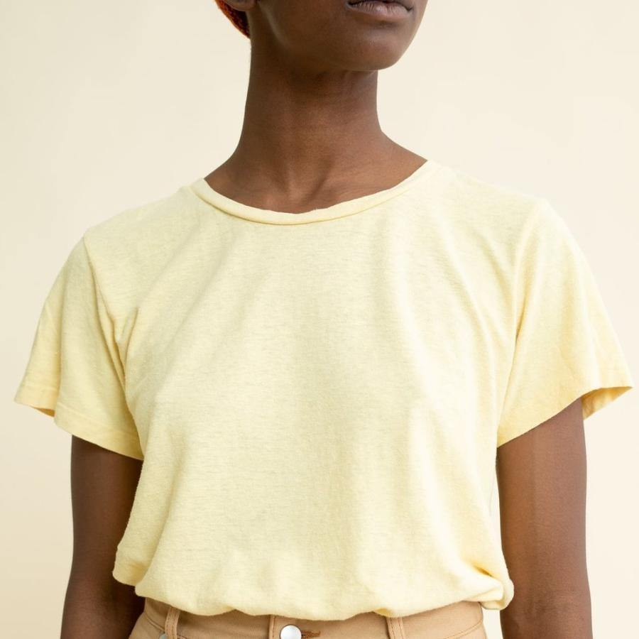 Jungmaven Lorel Tee - Pale Yellow