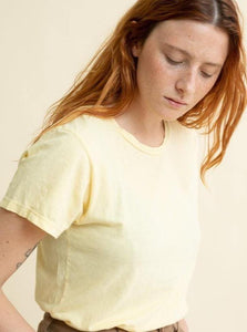 Jungmaven Ojai Tee - Pale Yellow