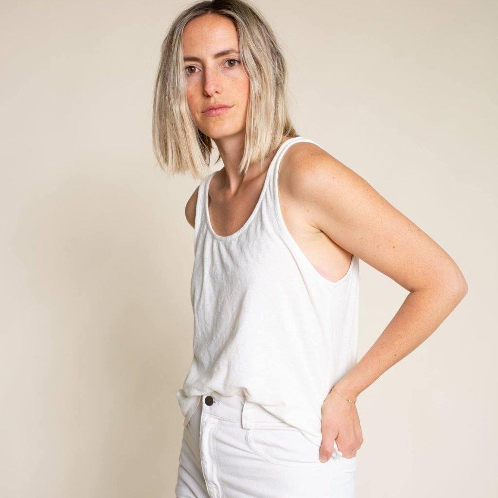 Jungmaven Cropped Tank - Optic White