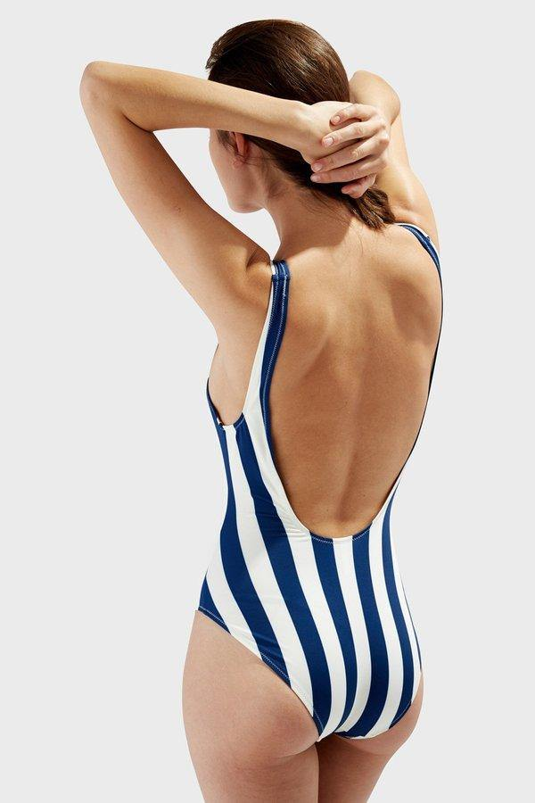 Solid & Striped Anne-Marie Stripe One Piece - Navy Stripe