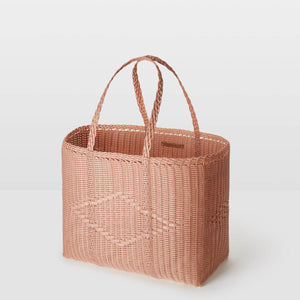 Palorosa Large Handwoven Basket Tote - Rose