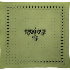 Feel The Fear Bandana - Vintage Army Green