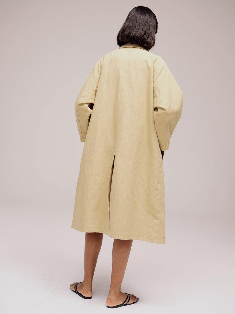 MIjeong Park Linen Cotton Trench - Light Beige