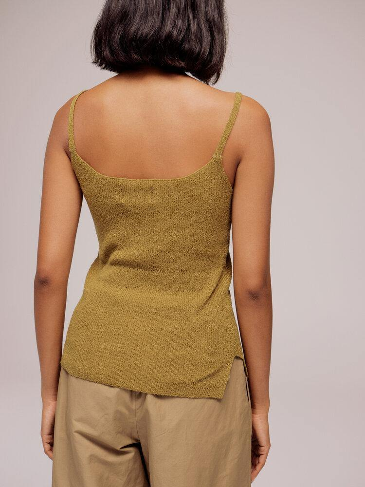 Mijeong Park Thin Ribbed Knit Top - Olive