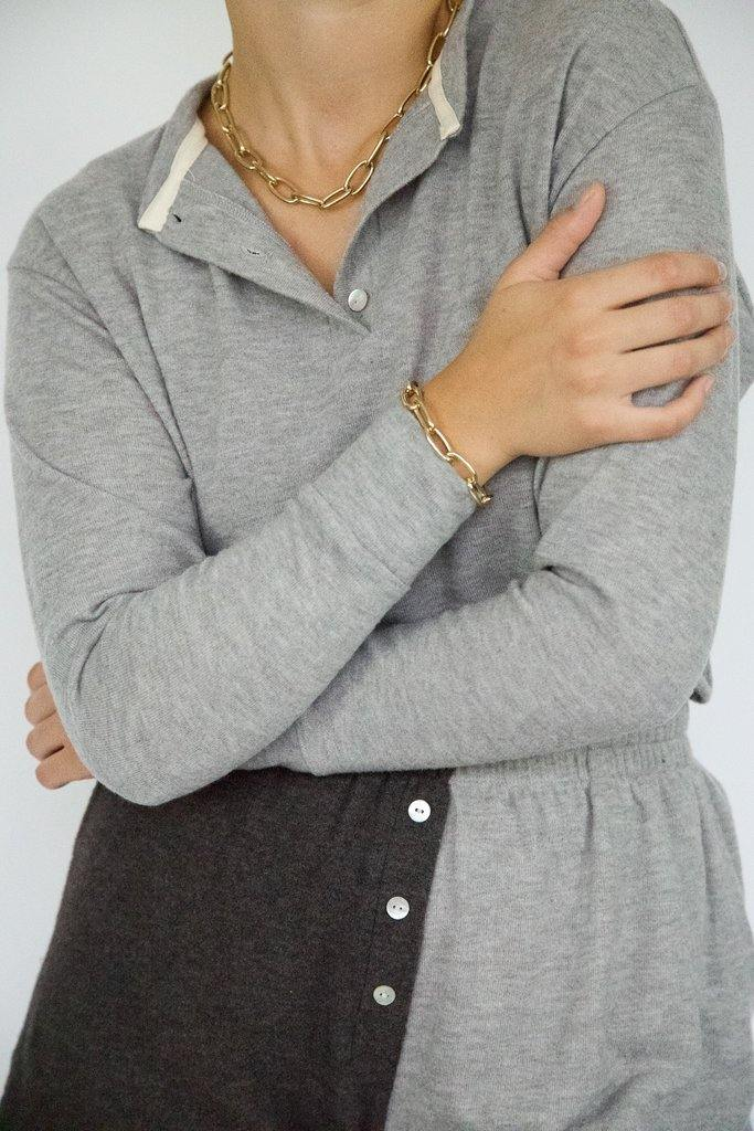 Donni Sweater Henley - Heather