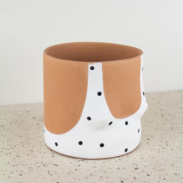 Group Partner Pot - Polka Dot Girl Medium