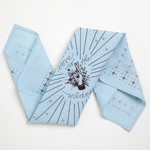 Love Wild Bandana - Blue