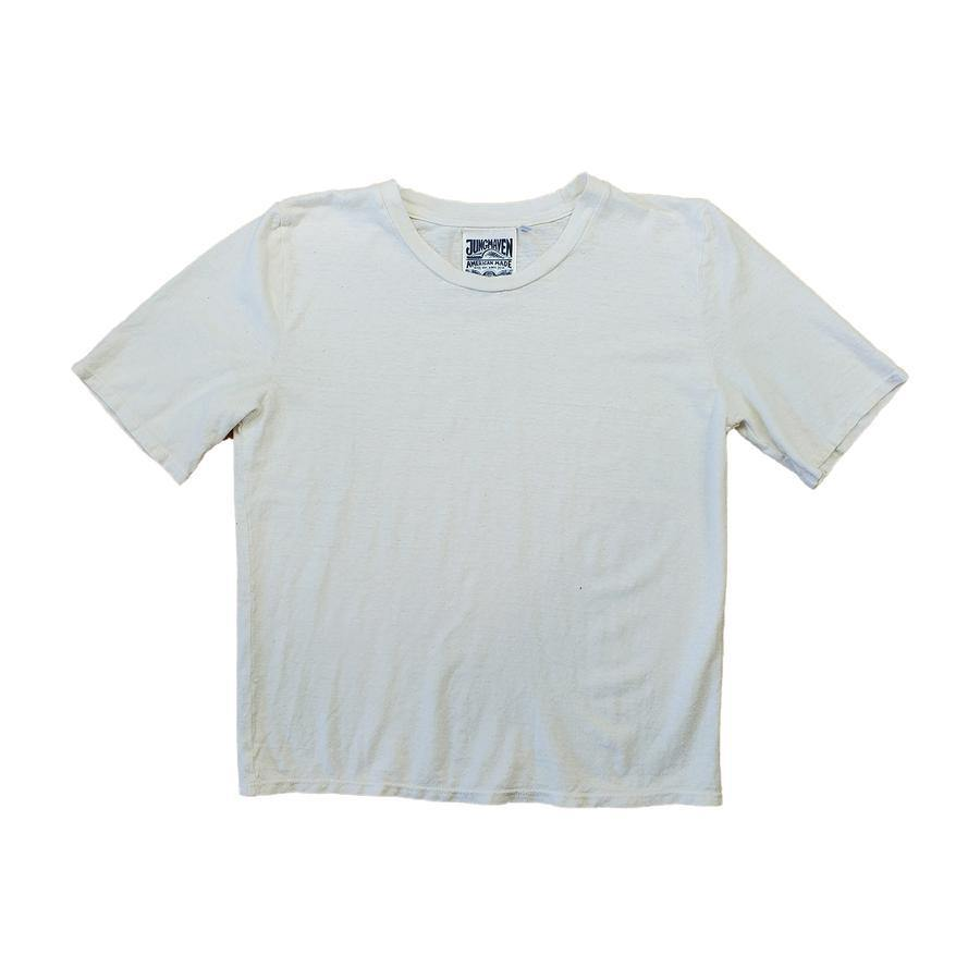 Jungmaven Cropped Silverlake Tee - Washed White