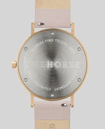 The Horse D-Series Double Strap Set - Brushed Rose Gold / Blush + Grey Leather