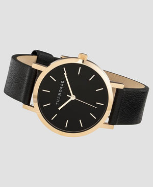 The Horse Mini Original Watch - Polished Rose Gold/Black