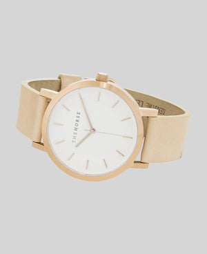 The Horse Original Watch - Brushed Rose Gold / Natural Leather