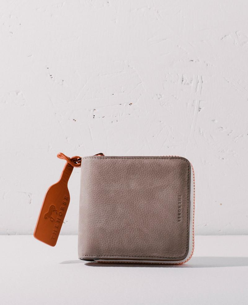 The Horse Mini Block Wallet - Grey