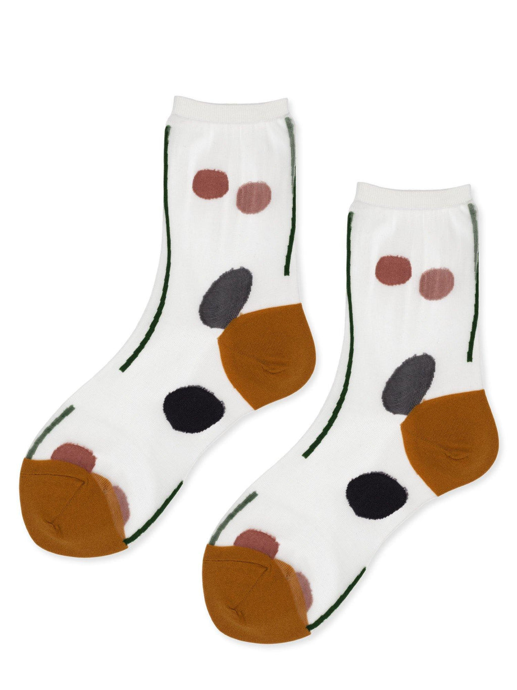 Hansel from Basel Tulle line dot crew socks
