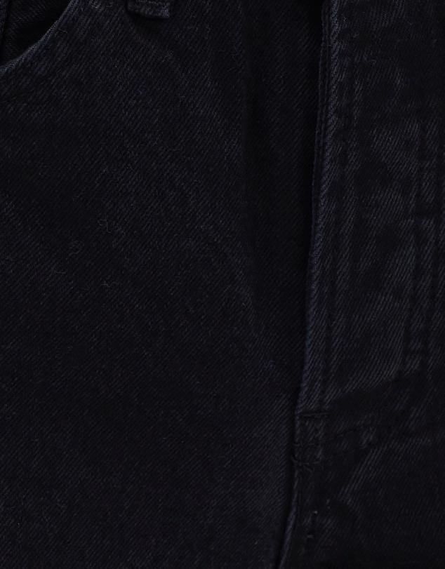 Assembly Label Rigid Fray High Rise Jean - Worn Black