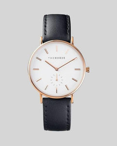 The Horse Classic Watch - Rose Gold / Black Leather