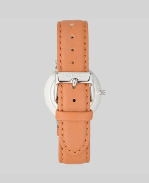 The Horse Classic Watch - Silver / Blue / Tan Leather