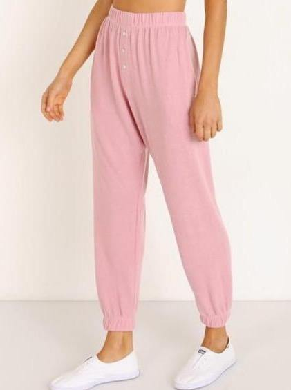 Donni Sweater Sweatpants - Rose