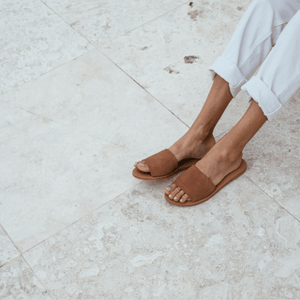 St. Agni Aiko Slide - Clay Suede