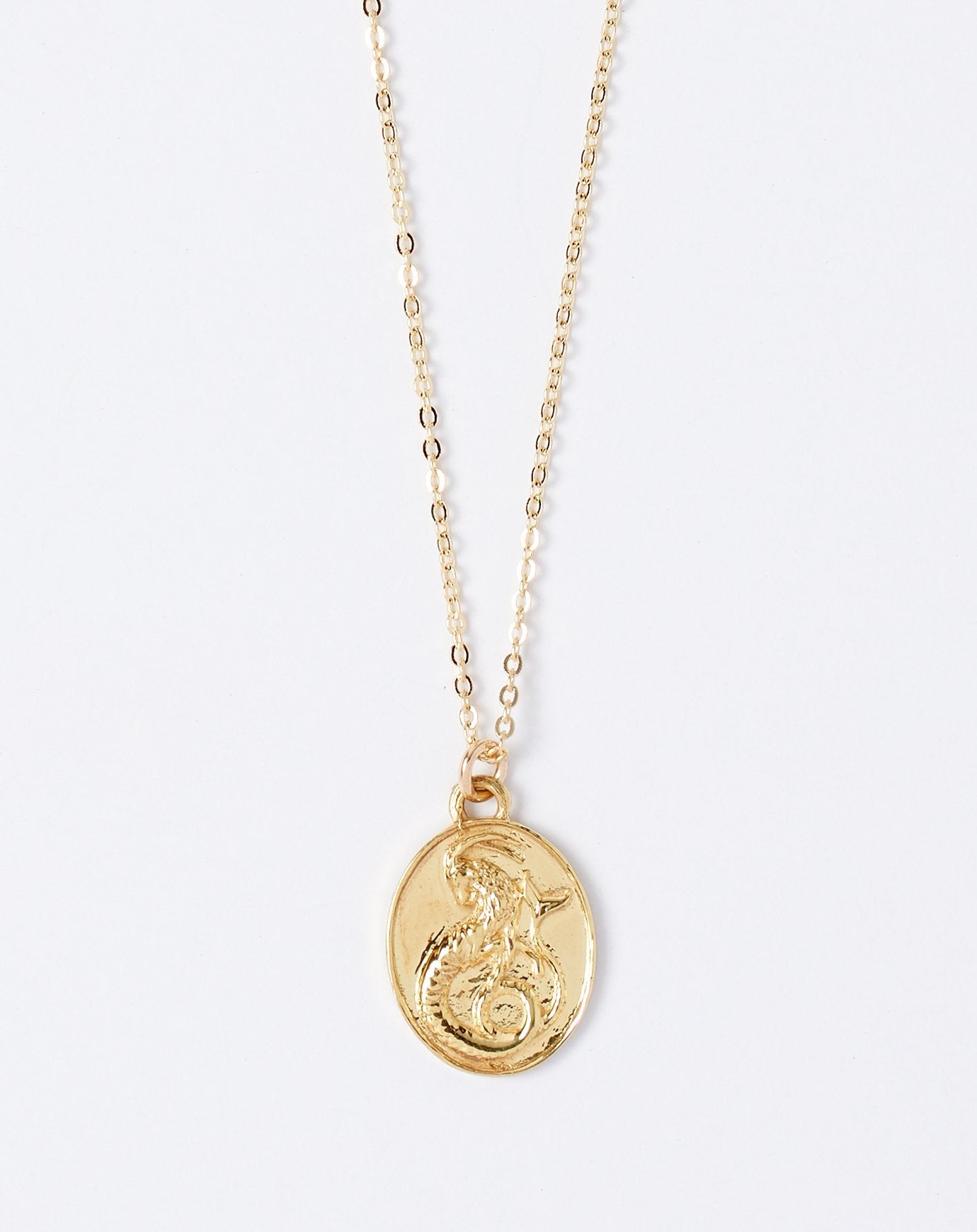 Talon Zodiac Pendant Necklace - Capricorn