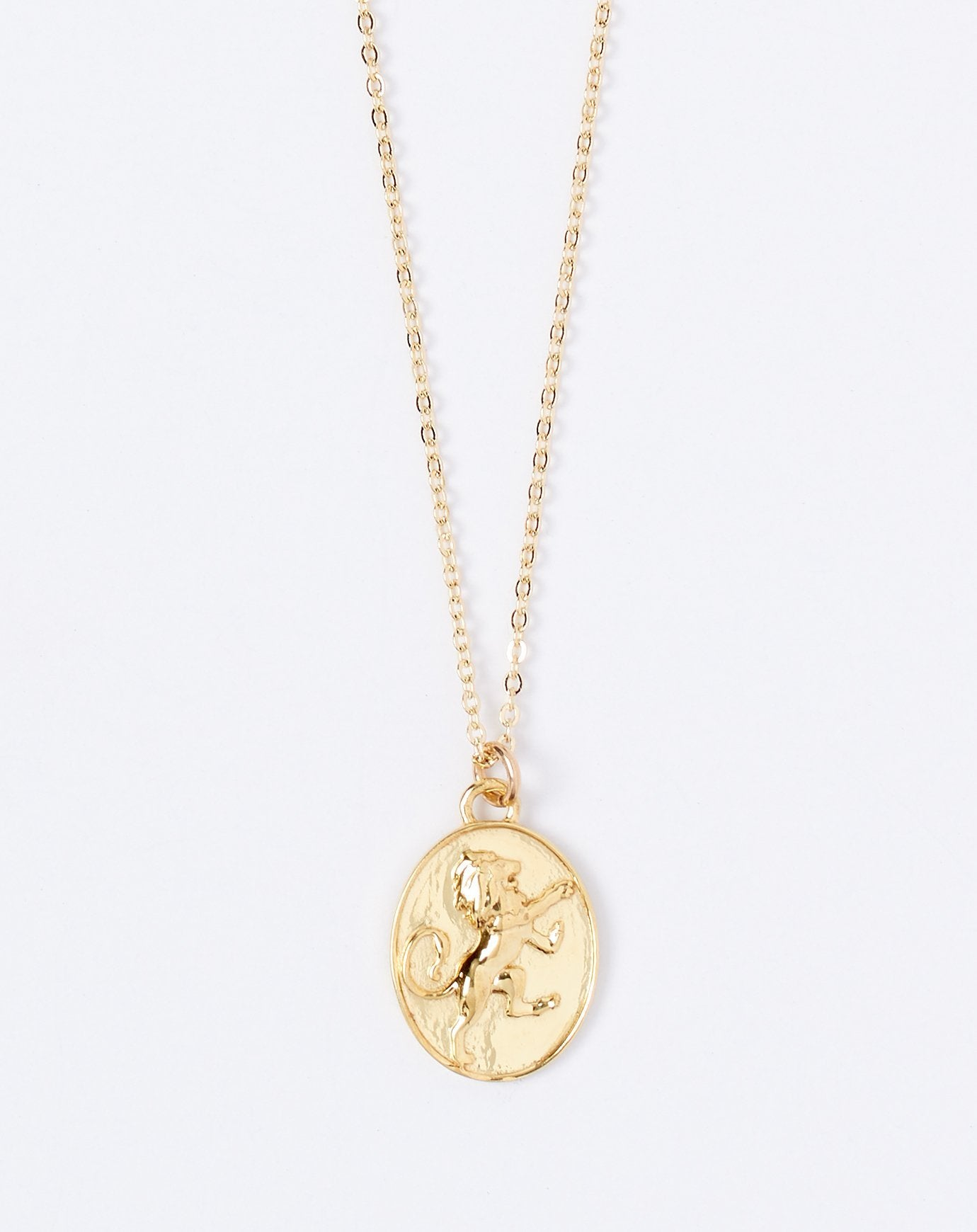 Talon Zodiac Pendant Necklace - Leo