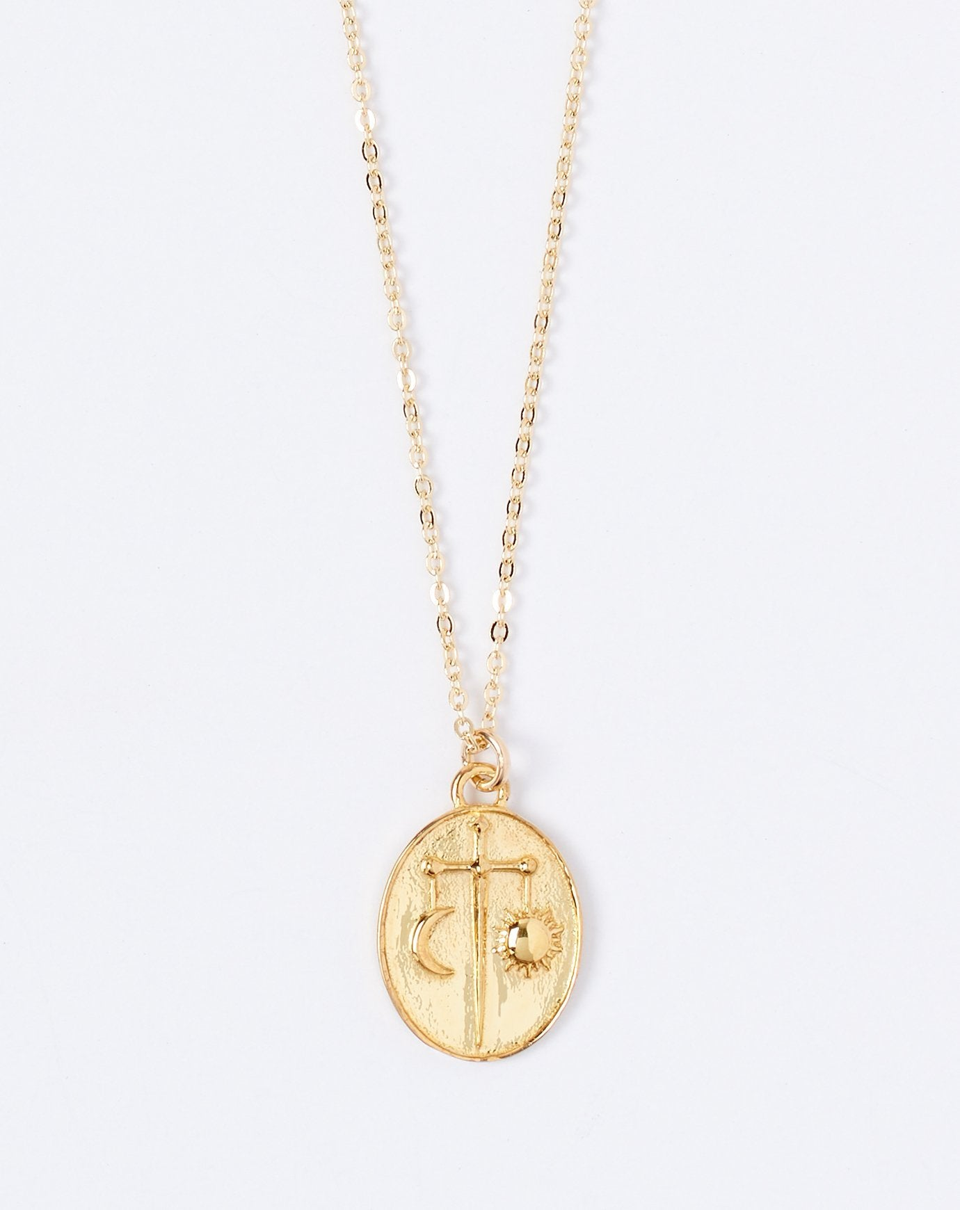 Talon Zodiac Pendant Necklace - Libra