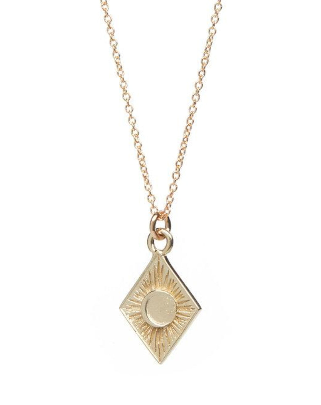 Talon 10K Gold Eclipse Pendant Necklace