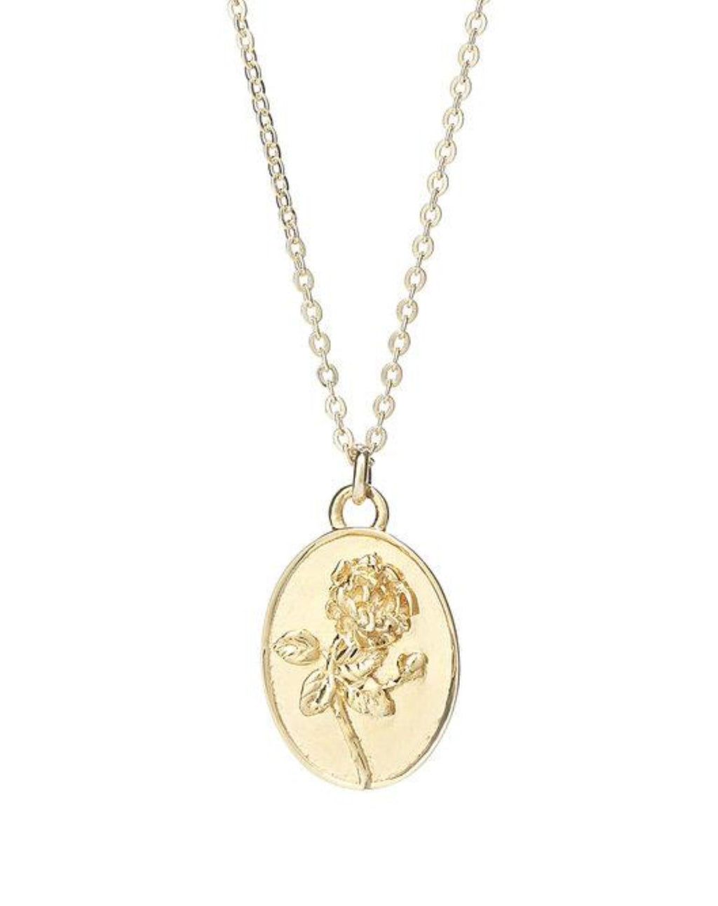 Talon 10K Gold Dark Desire Rose Necklace