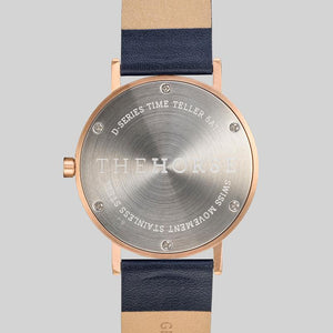 The Horse D Series - Brushed Rose / Navy Leather